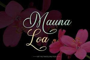 Mauna Loa Handwritten Script Font