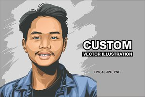 custom vector illustration (discount