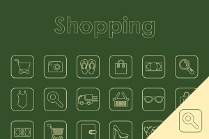 25 SHOPPING simple icons