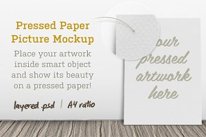 Pressed Paper Picture Mockup