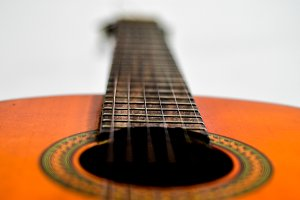guitar with blur effect