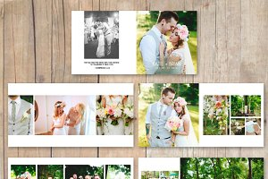 Wedding Album PhotobookTemplate12x12
