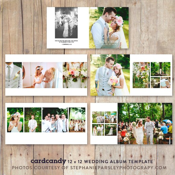 wedding album photobooktemplate12x12 stationery templates creative market. Black Bedroom Furniture Sets. Home Design Ideas