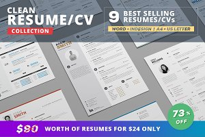 Resume/Cv Bundle - Clean Collection