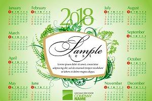 2018 Calendar12