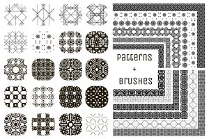20 Patterns and 12 Pattern Brushes