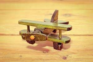 vintage wooden aircraft