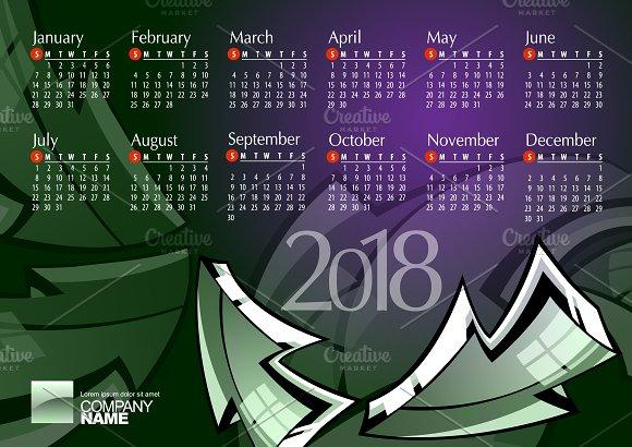 2018 Calendar13