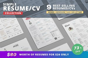 Resume/Cv Bundle - Simple Collection