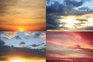 Sunset sky - the set of 4 images