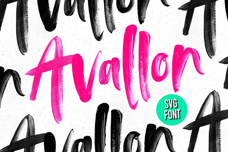 Avallon OpenType-SVG Font ~ Script Fonts ~ Creative Market