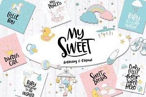 Baby Lettering & Clipart +Bonus