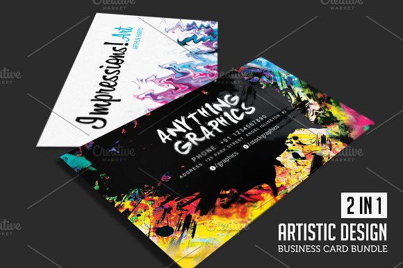 Artistic Design Business Card Bundle Business Card Templates - Graphic design business cards templates