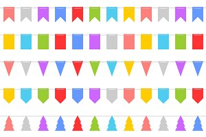 Colorful Shape of Bunting Set