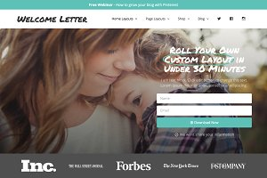 Wordpress Theme Blog - Welcome