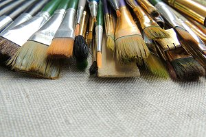 Big variety of brushes and tools.