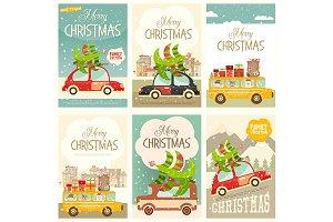 Xmas Posters Winter Holidays Set