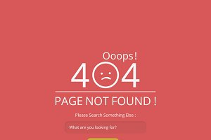 Ooops 404 Not Found Page