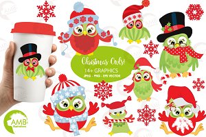 Christmas Owl graphics AMB-569