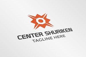 Center Shuriken Logo Template