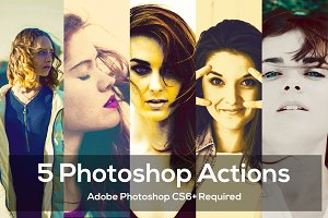 5 Photoshop Actions Package