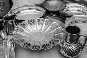 Silver Vintage Objects