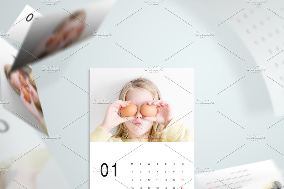 186386b29074 Minimal A5 - 2018 Calendar Template ~ Stationery Templates ...