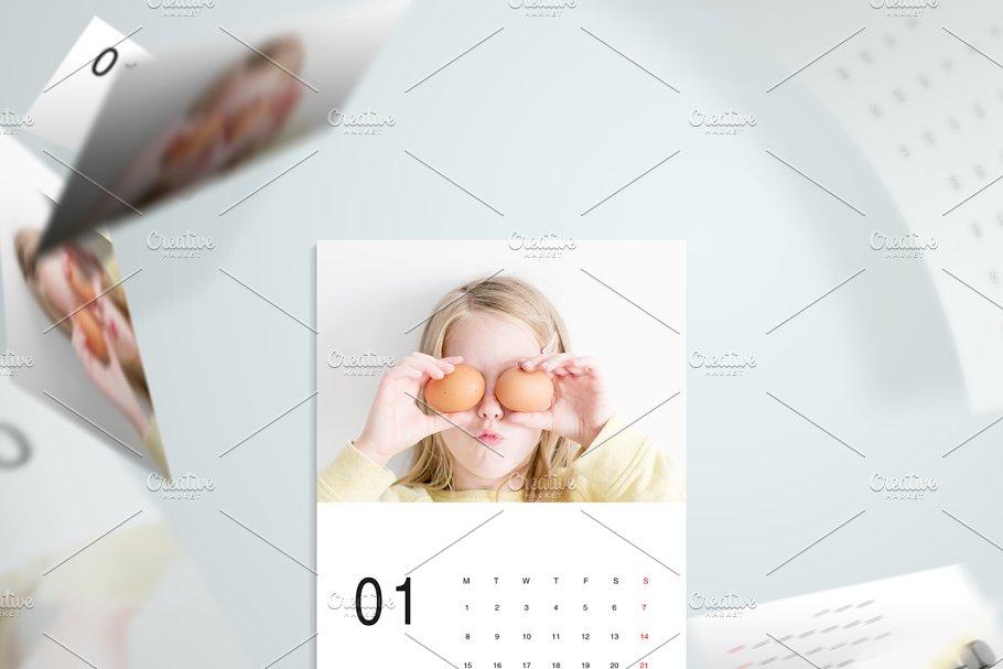 186386b29074 Minimal A5 - 2018 Calendar Template ~ Stationery Templates ...