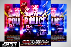 Police Party Flyer