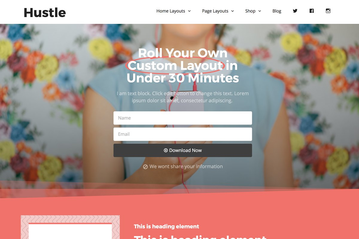 Wordpress Theme Hustle Wordpress Blog Themes Creative Market