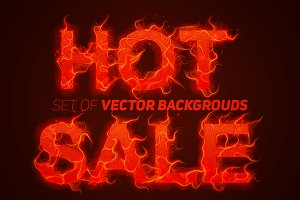 Sale On Fire Vector Backgrouds