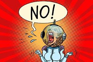 No screaming girl astronaut