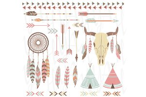 Tribal /Indian Clip Art Elements