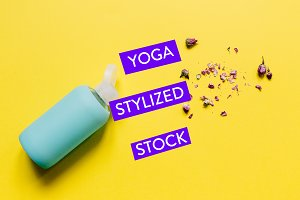 Yellow Yoga Styled Stock Collection
