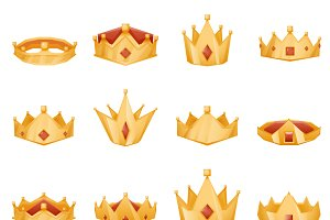 Polygonal royal crown