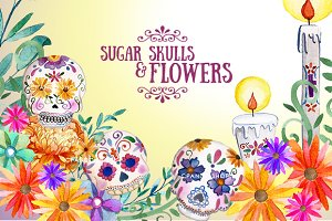 Sugar skulls - day of the dead