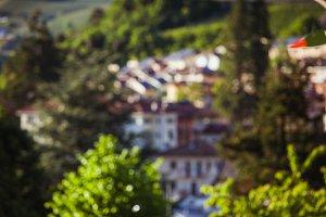 Alpine villlage blur