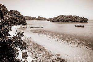 Sepia color Ko Wua Talap island