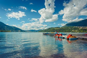 Caldonazzo lake near Trento