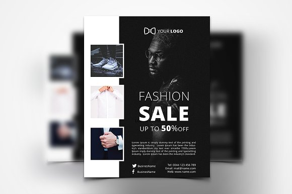 Men Clothing Flyer-Graphicriver中文最全的素材分享平台