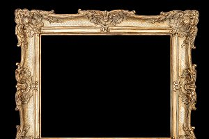 Golden picture frame clipping path