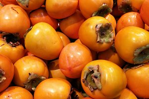 Persimmons at market