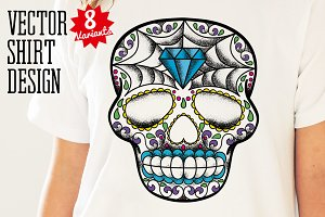 Calavera Vector Design