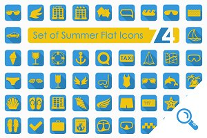 74 SUMMER flat icons