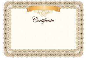 Certificate - classic style