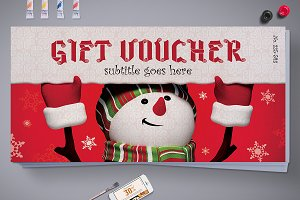 Christmas Gift Voucher with 3 Styles