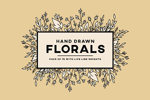 Hand Drawn Floral Elements | 75 Pack