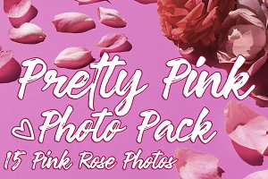 Pretty Pink Roses Photo Pack