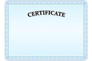Certificate - Modern Blue