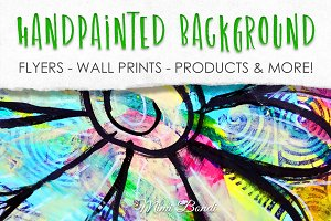 Handpainted abstract background 3